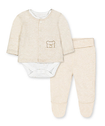 Mothercare My First Teddy 3-Piece Set