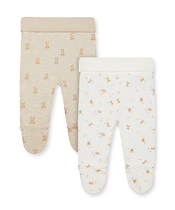 Mothercare My First Teddy Bear Leggings - 2 Pack