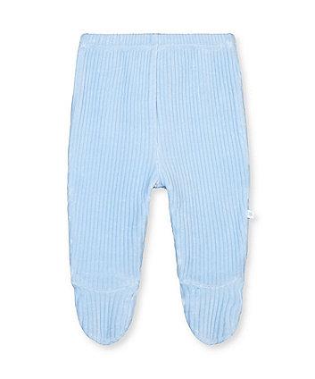 My First Blue Bear Rib Velour Leggings