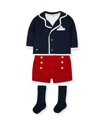 Mothercare Heritage Shorts And Cardigan Set