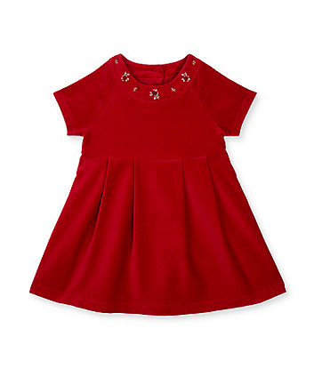 Mothercare Red Velvet Dress