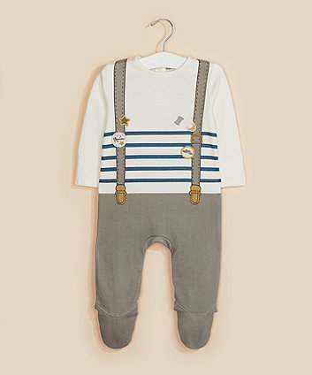 Mothercare Badge And Braces Tromp L'Oeil All In One