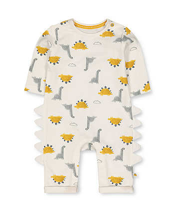 Mothercare White Dinosaur All In One