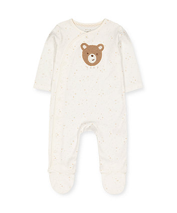 Mothercare My First White Boucle Teddy Bear All In One