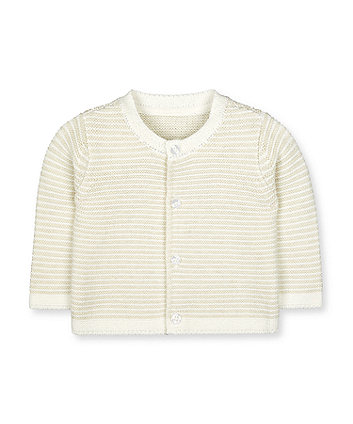 Mothercare Purl Knitted Cardigan - White
