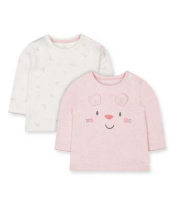 Mothercare My First Pink Mouse And Ballet Shoes T-Shirts - 2 Pack