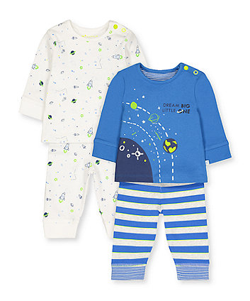 Mothercare Little Space Pyjamas - 2 Pack