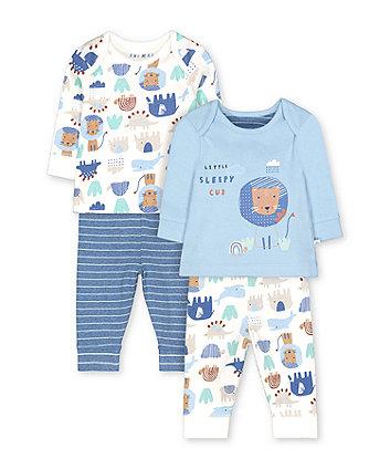 Blue Animal Friends Pyjamas - 2 Pack