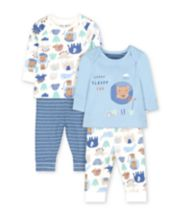 Blue Animal Friends Pyjamas - 2 Pack