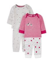 Mothercare Pink Spotty Puppy Pyjamas - 2 Pack