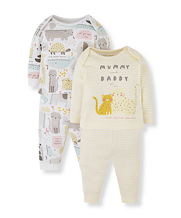 Mothercare Mummy & Daddy Pyjamas - 2 Pack