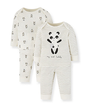 Mothercare Panda Pyjamas - 2 Pack