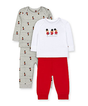 Mothercare London Bear Guardsman Pyjamas - 2 Pack