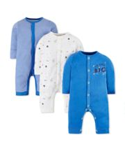 Little Space Sleepsuits - 3 Pack