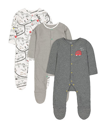 Mothercare Little City Sleepsuits