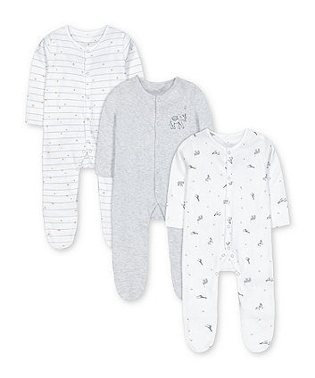 Mothercare Circus Sleepsuits - 3 Pack
