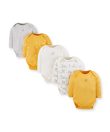 Mothercare Daisy Mouse Bodysuits - 5 Pack