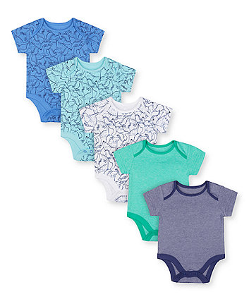 Mothercare Dinosaur Friends Bodysuits - 5 Pack