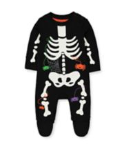 Mothercare Halloween Glow In The Dark Skeleton All In One