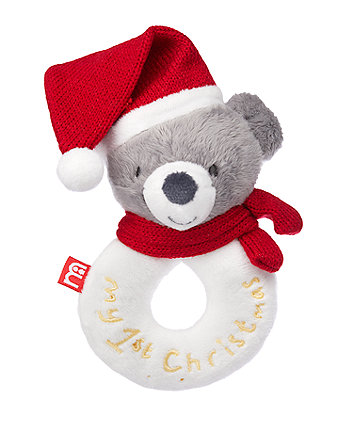 Mothercare My First Christmas Ring Rattle