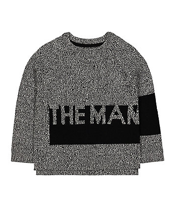 Mothercare The Man Knitted Jumper