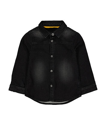 Mothercare Black Denim Shirt