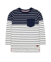 White And Blue Stripe T-Shirt