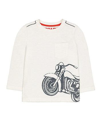 Mothercare Motorbike Longsleeves T-Shirt - White