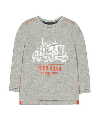 Mothercare Grey Open Road Adventure Lorry T-Shirt