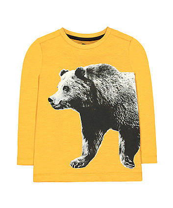 Mothercare Mustard Bear Photo T-Shirt