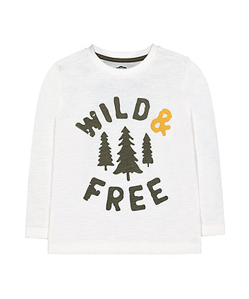Mothercare Wild & Free Longsleeves T-Shirt - White