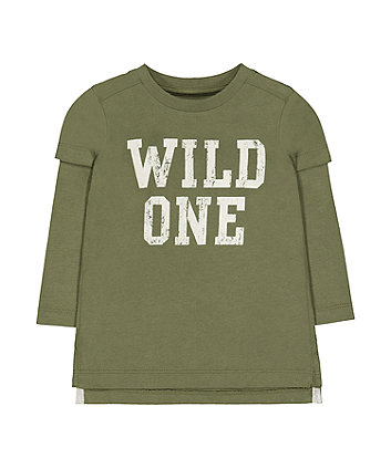 Mothercare Green Wild One T-Shirt