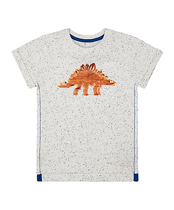 Mothercare Reversible Sequin Dinosaur T-Shirt