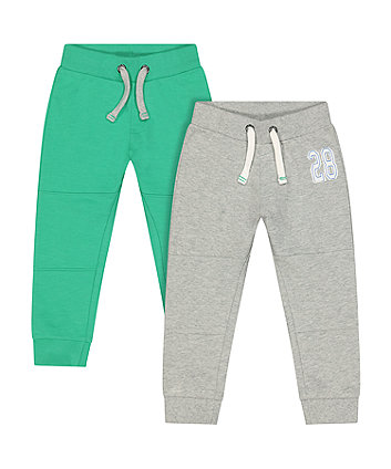 Mothercare Grey And Green Joggers - 2 Pack