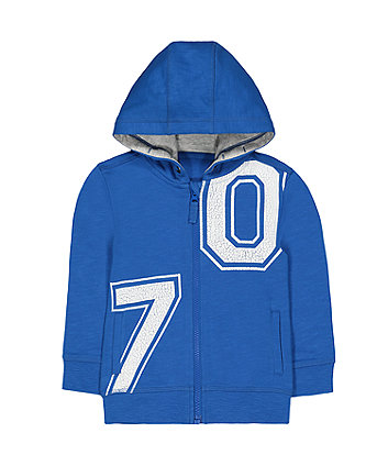 Mothercare Blue 70 Zip-Through Hoodie