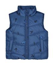 Blue Car Fleece-Lined Gilet