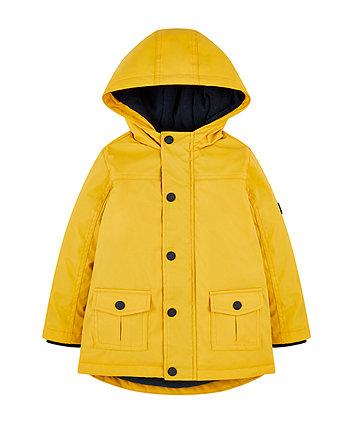 Mothercare Yellow Fleece-Lined Mac