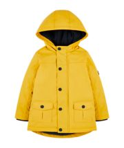 Mothercare Yellow Fleece-Lined Mac