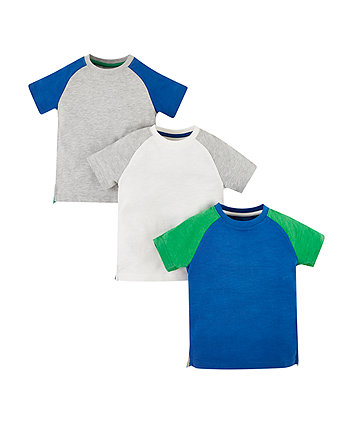 Mothercare Raglan Sleeve T-Shirts - 3 Pack