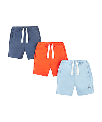 Mothercare Orange And Blue Shorts - 3 Pack
