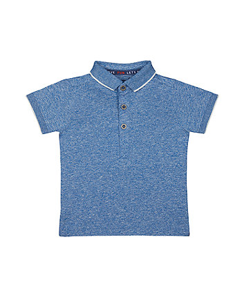 Mothercare Blue Robot Polo T-Shirt