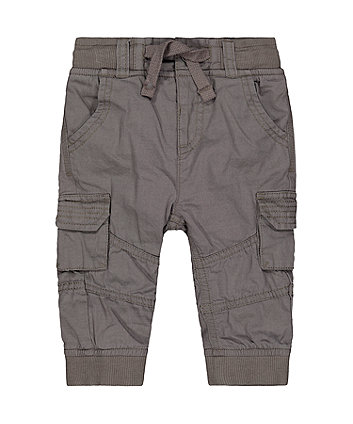 Mothercare Charcoal Cargo Trousers