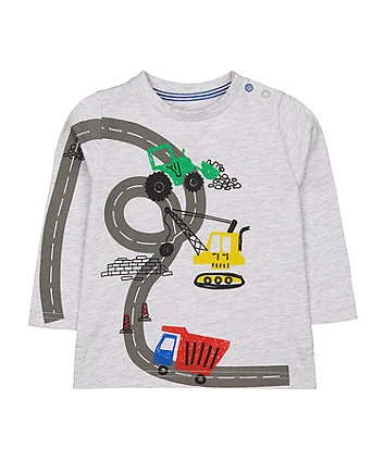 Mothercare Grey Road Vehicle T-Shirt