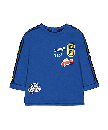 Mothercare Blue Super Fast Car T-Shirt