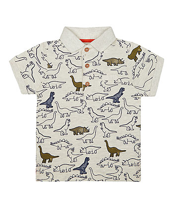 Mothercare Grey Dinosaur Polo T-Shirt