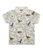 Mothercare Grey Dinosaur Polo T-Shirt