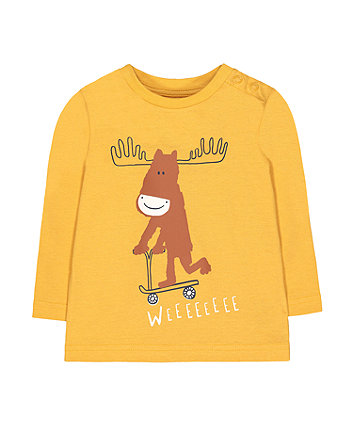 Mothercare Mustard Moose T-Shirt