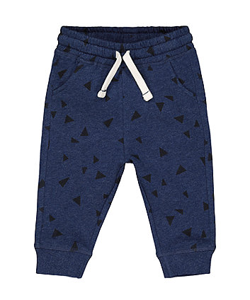 Mothercare Navy Geometric Print Joggers