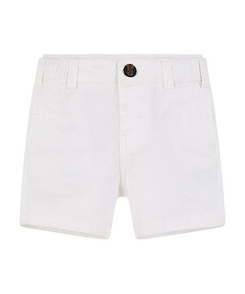 Mothercare White Chino Shorts