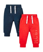 Mothercare Red And Navy Joggers - 2 Pack
